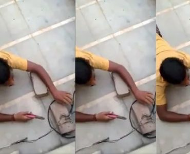 Man crawls to avoid evidence of Power Theft