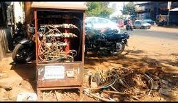 Power Theft-\\\UNCOVERED DP BOXES SHOCK BHOSARI MIDC Uncovered DP boxes shock Bhosari MIDC